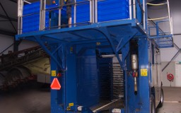 oogstmachine blauwe bes